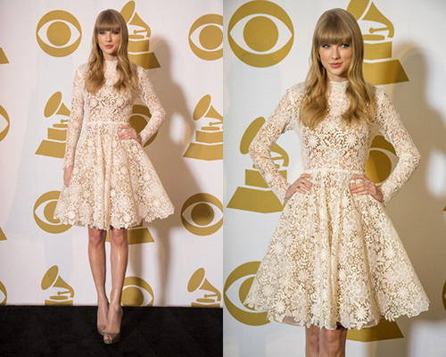 taylor-swift-Maria-Lucia-Hohan-Long-Sleeves-Cotton-Lace-Dress